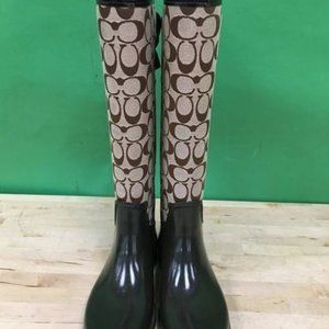 Coach Shoes - Coach Women's Tristee Lace-Up Rain Boots - 9